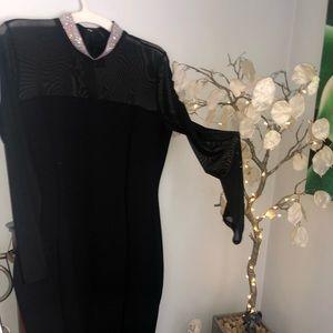 NWT Fashion nova black dress w sheer sleeves
